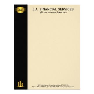Black Gold Coins Custom Accounting Letterhead