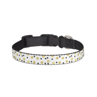 Black Gold Confetti Pet Collar