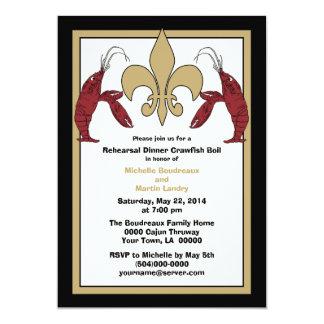 Black Gold Crawfish Boil Event II Invitations