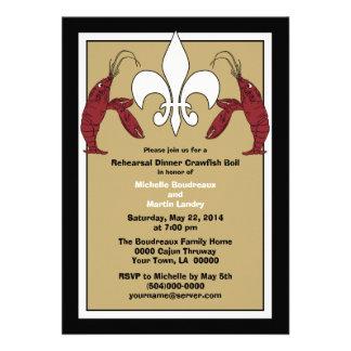 Black Gold Crawfish Boil Event Invitations