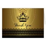 Black & Gold Crown Thank You Card