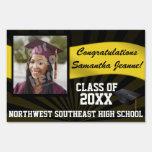 Black/Gold Custom Photo Graduation Yard Sign