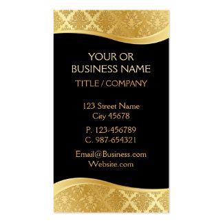 Black & Gold Damask Business Card