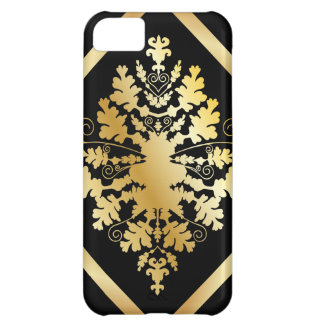 Black & Gold Damask iPhone 5C Covers