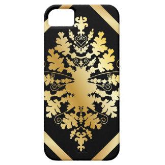 Black & Gold Damask iPhone SE/5/5s Case