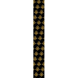 Black & Gold Damask Tie tie