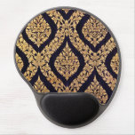 Black & Gold Damask Traditional Contemporary Print Gel Mouse Pads