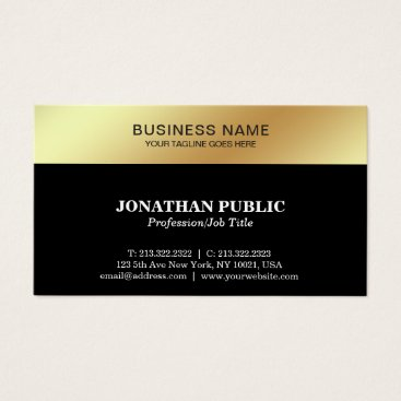 Lawyer Themed Black Gold Design Elegant Modern Corporate Sleek Business Card