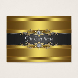 Black Gold Diamond Gold Business Gift Certficate Business Card