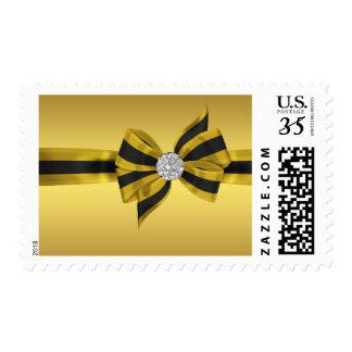 Black Gold Diamond Postage