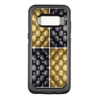 Black Gold Diamonds Collage Pattern Design OtterBox Commuter Samsung Galaxy S8 Case