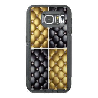 Black Gold Diamonds Collage Pattern Design OtterBox Samsung Galaxy S6 Case