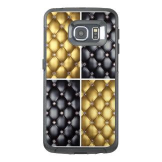 Black Gold Diamonds Collage Pattern Design OtterBox Samsung Galaxy S6 Edge Case