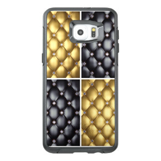 Black Gold Diamonds Collage Pattern Design OtterBox Samsung Galaxy S6 Edge Plus Case