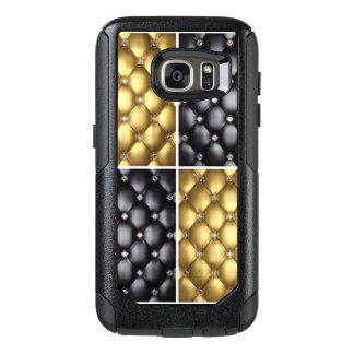 Black Gold Diamonds Collage Pattern Design OtterBox Samsung Galaxy S7 Case