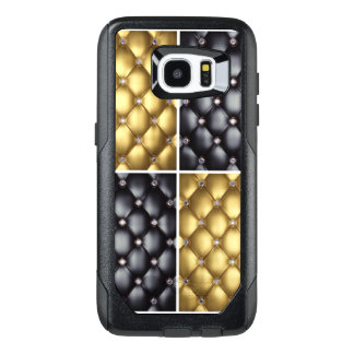 Black Gold Diamonds Collage Pattern Design OtterBox Samsung Galaxy S7 Edge Case