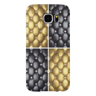 Black Gold Diamonds Collage Pattern Design Samsung Galaxy S6 Case