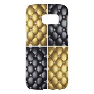 Black Gold Diamonds Collage Pattern Design Samsung Galaxy S7 Case