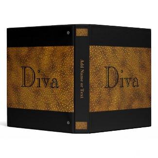 Black & Gold Diva Notebook Binder binder