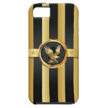 Black & Gold Eagle Wings Hero iPhone 5 Case