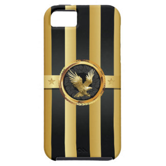 Black Gold Eagle Wings Hero iPhone 5 Case