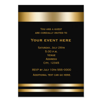 Black & Gold Elegant Dinner Party Event Invitation