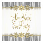 Black Gold Elegant New Years Eve Party Invitations
