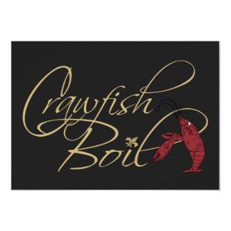 Black Gold Fancy Script Crawfish Boil Card