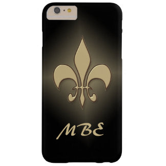 Black Gold Fleur de Lis Barely There iPhone 6 Plus Case