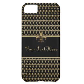 Black Gold Fleur de Lis iPhone 5C Covers