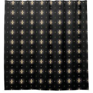 Black U0026 Gold Fleur De Lis Curtain