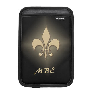 Black Gold Fleur de Lis iPad Mini Sleeve