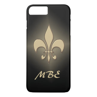 Black Gold Fleur de Lis iPhone 8 Plus/7 Plus Case