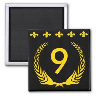 Black & Gold Fleur De Lis  Letters & Numbers Magnet