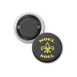 Black Gold Fleur de Lis Magnet