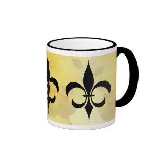 Black Gold Fleur-de-lis Mug