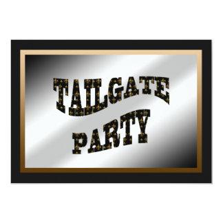 Black Gold Fleur de Lis Tailgate Party Card