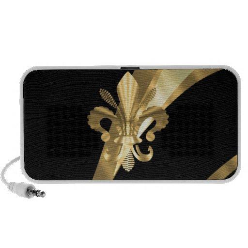 Black & gold fleur de lys mp3 speaker