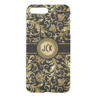 Black & Gold Floral Damasks 5 iPhone 8 Plus/7 Plus Case