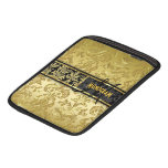 Black & Gold Floral Damasks Customized Sleeves For iPads