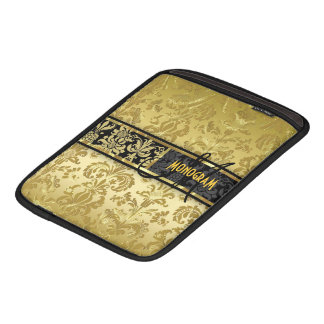 Black & Gold Floral Damasks Customized Sleeve For iPads