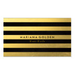 Black Gold Foil Stripe Business Card
