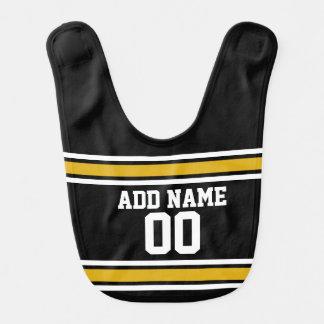 Black Gold Football Jersey Custom Name Number Bib