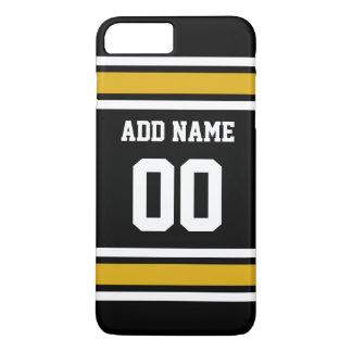 Black Gold Football Jersey Custom Name Number iPhone 8 Plus/7 Plus Case