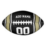 Black|Gold Football Jersey Stripes