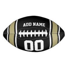 Black|gold Football Jersey Stripes at Zazzle