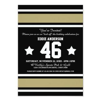 Black Gold Football Jersey Stripes Card