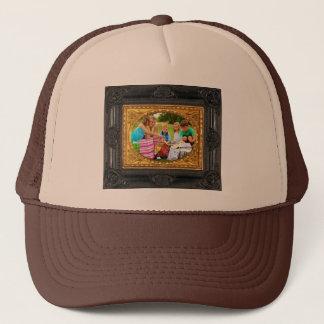 Black & Gold Frame - Add Your Photo! Trucker Hat