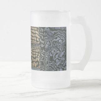 Black Gold Frosted Glass Mug