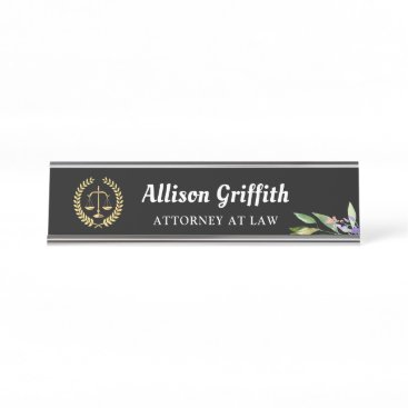 Black Gold Garden Lawyer Attorney Desk Name Plate